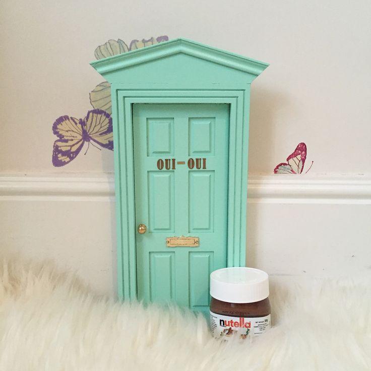 Oui oUi-puerta ratoncito perez con nombre-victoriana mint-nutella