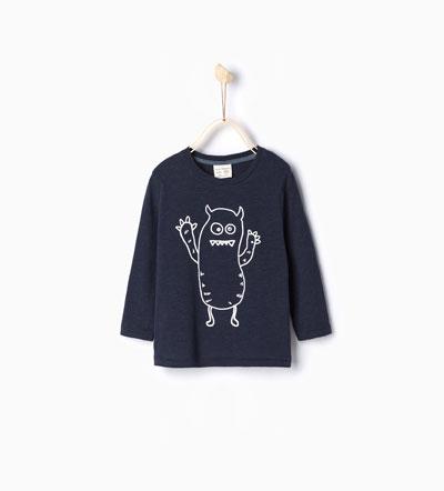 Oui Oui-disfraz halloween bebes-camiseta fantasma-zara