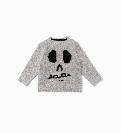 Oui Oui-disfraz halloween bebes-sudadera calavera-zara