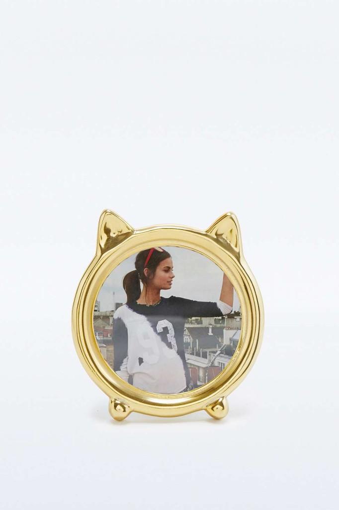 Oui Oui-regalos amantes de los gatos-marco fotos forma gato
