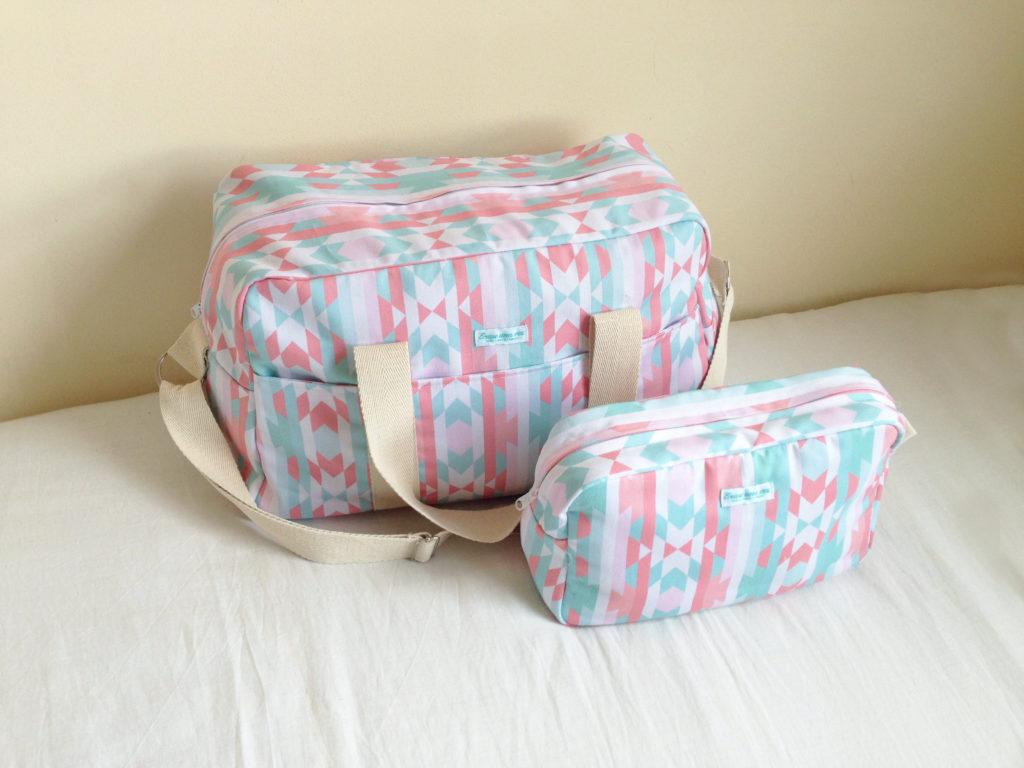 Oui Oui-bolsas carrito bebe chulas-erase una vez-bolsa y neceser tonos pastel-candy