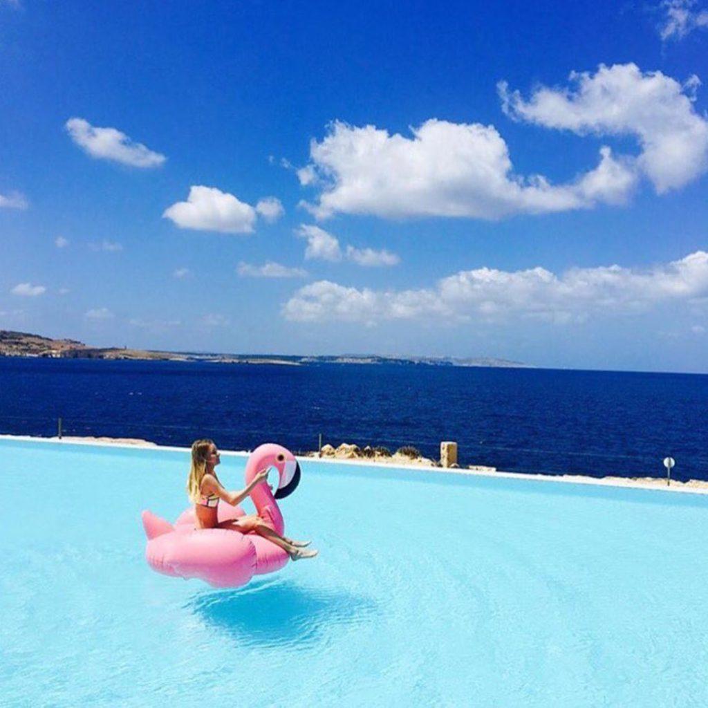 Oui Oui-flotador flamenco gigante-flotador flamenco rosa