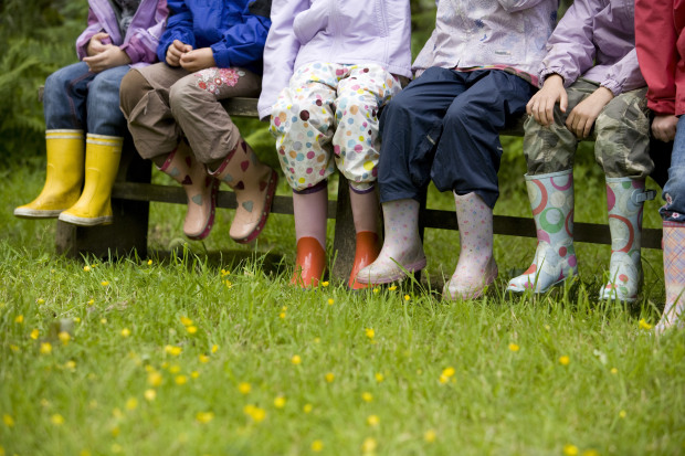 Schoolchildren on the Guardianship scheme visit the Footprint Building at St Catherine's in Windermere, Cumbria.
