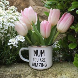 Oui Oui-taza mum you are amazing-tulipanes