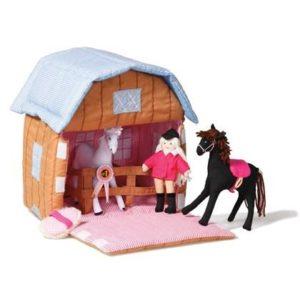 Oui Oui-juego tela establo caballos-oskar and ellen
