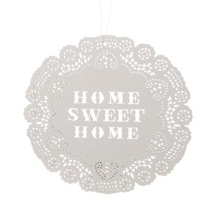 Oui Oui- Cartel madera forma blonda home sweet home