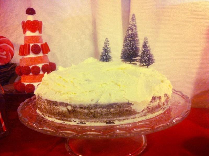 Oui Oui-mesa dulces navidad-tarta nevada con pino
