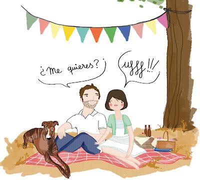 Oui Oui-regalo original aniversario-lamina Lucia Be-me quieres