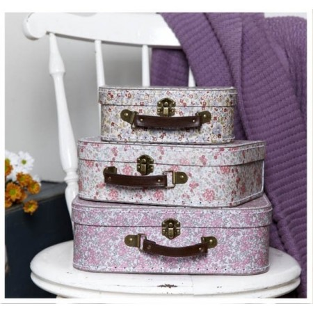 Oui Oui-Set 3 maletas estilo vintage flores
