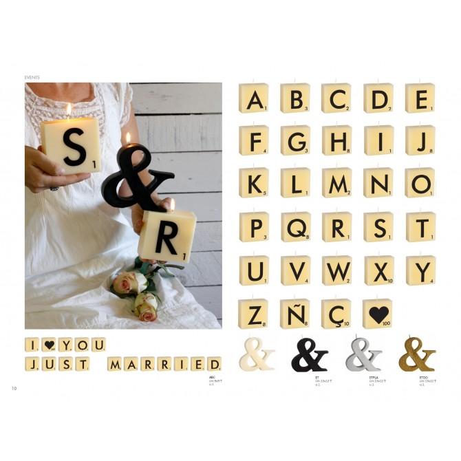 Velas letras Scrablle