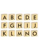 Velas letras Scrabble
