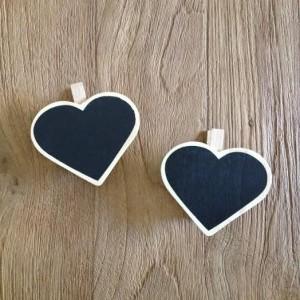 Mini pizarra corazón con pinza