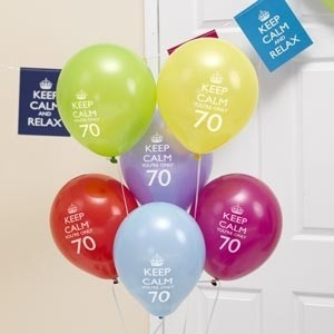 Globos Keep Calm 70 años