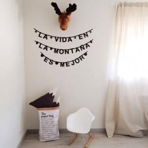 Guirnalda letras DIY - Word banner negro
