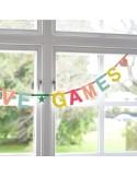 Guirnalda letras DIY - Word banner color