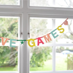 Guirnalda letras DIY - Word banner color