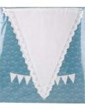 Banderín algodón blanco con puntilla
