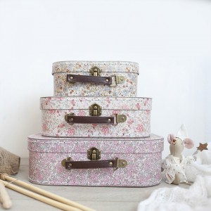 Set 3 maletas estilo vintage flores
