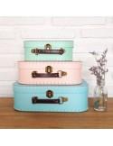 Set 3 maletas pastel