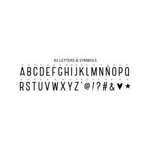 Pack letras lightbox básico negro