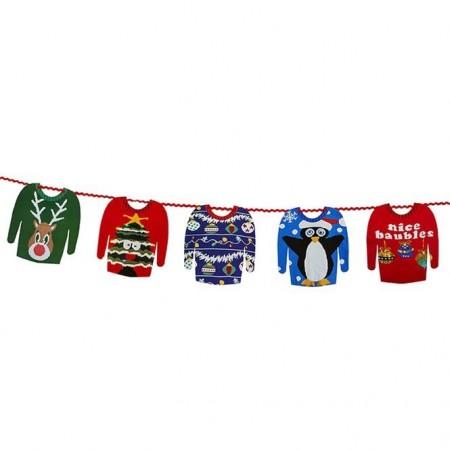 Guirnalda jerseys navideños