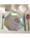 Platos iridescentes