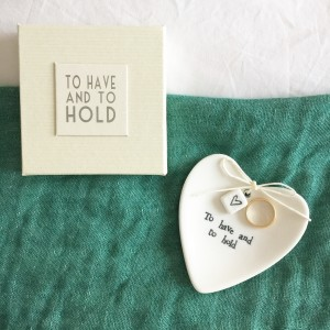"Platito anillos ""To have and to hold"""