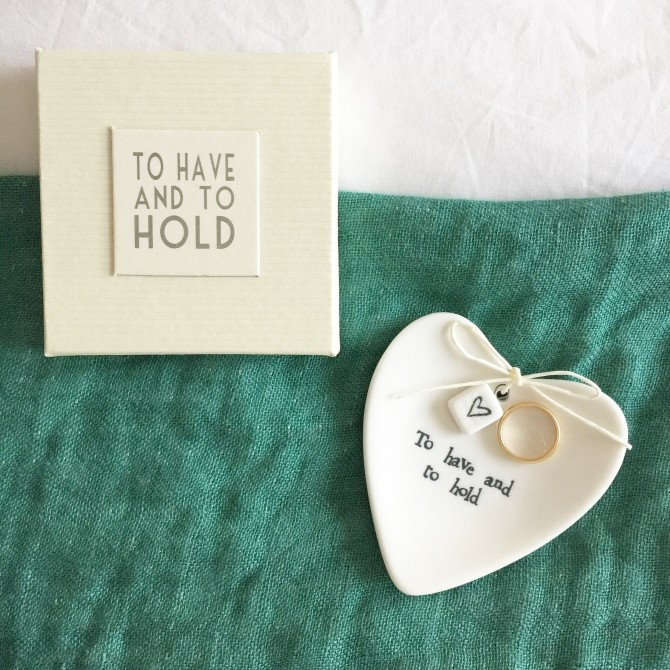 """Oui Oui-Platito anillos """"To have and to hold"""""""