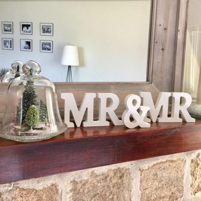 Letras Mr & Mr madera
