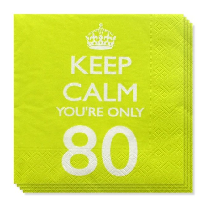 Servilletas Keep Calm 80 años