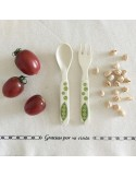 Set comida niños de bambú