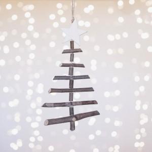 Árbol navidad troncos pequeño