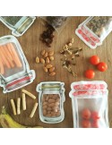 Bolsas zip tarro reutilizables