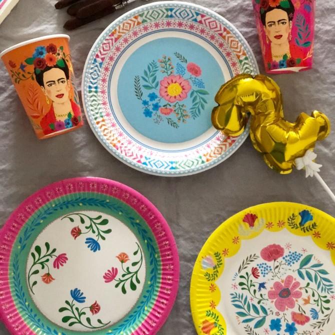Vasos papel Frida Kahlo