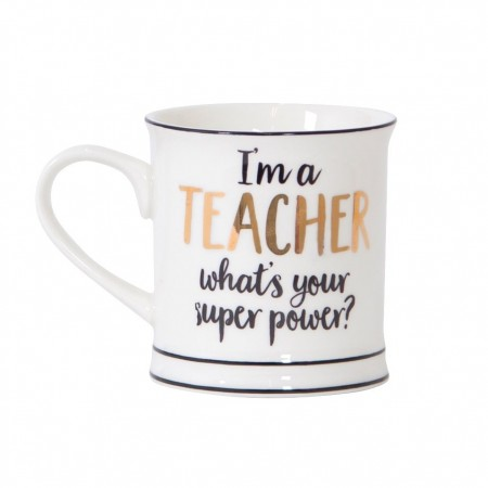 Taza súper poderes TEACHER