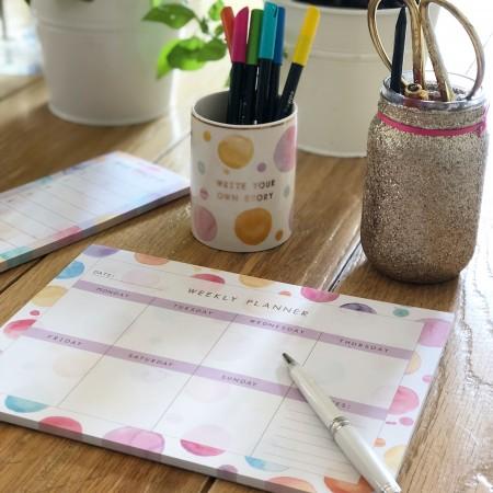 Planning semanal Acuarelas