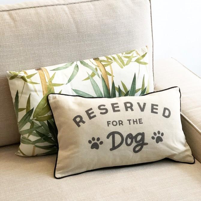 Cojín reserved for dog