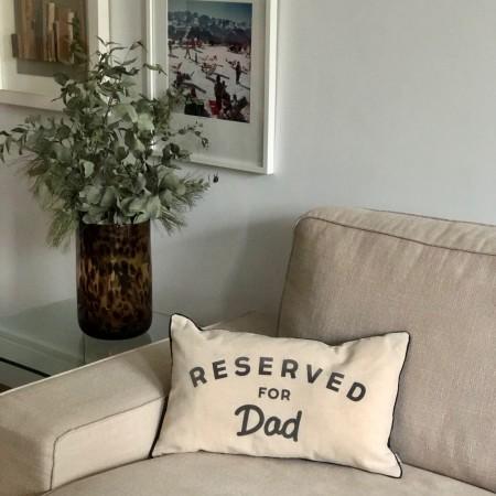 Cojín reservado para papá