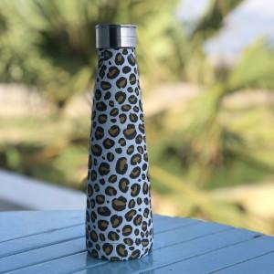 Botella de alumino con estampado de leopardo