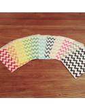 Bolsas papel chevron colores