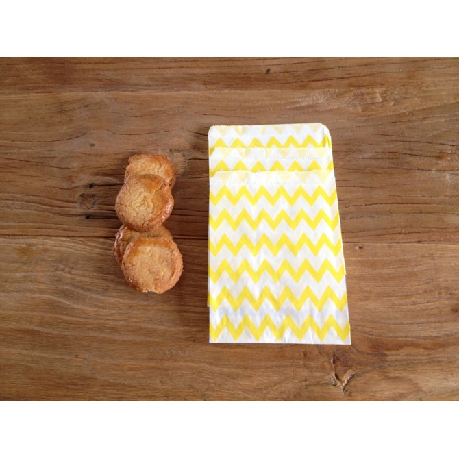 Bolsas papel chevron amarillo