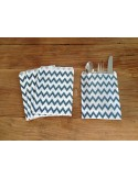 Bolsas papel chevron azul marino