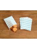 Bolsas papel chevron azul turquesa
