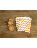 Bolsas papel chevron naranja