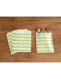 Bolsas papel chevron verde pistacho