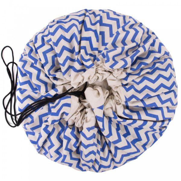 Oui Oui-bolsa-alfombra-de-juego-zig-zag-azul-saco juguetes cerrado
