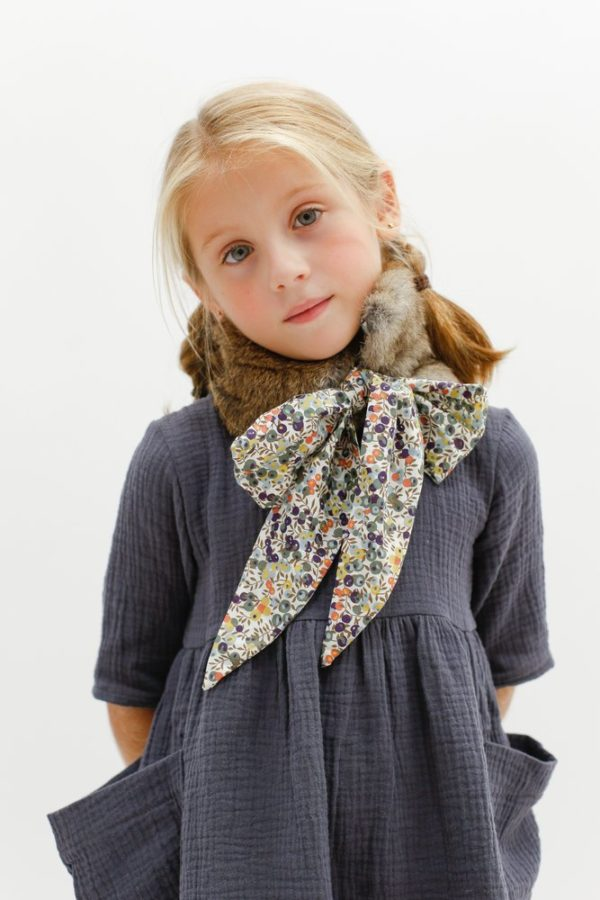 Oui Oui-cuello pelo con lazo libety para niñas-MINIMUS KIDS-KIDS UP SHOWROOM